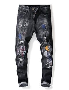 billige Herrebukser og -shorts-Herre Gatemote Jeans Bukser Stripet / Fargeblokk