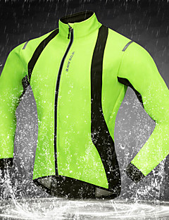 billige Sykkeljakker-WOSAWE Sykkeljakke Sykkel Softshell-jakker Vindtett, Hold Varm, Pustende Helfarge Polyester, Fleece Grønn Sykkelklær / Elastisk