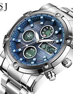 Χαμηλού Κόστους Ψηφιακά Ρολόγια-ASJ Ανδρικά Αθλητικό Ρολόι Ρολόι Καρπού Ψηφιακό ρολόι Ιαπωνικά Χαλαζίας Ψηφιακή 30 m Ανθεκτικό στο Νερό Χρονογράφος LCD Ανοξείδωτο Ατσάλι Μπάντα Αναλογικό-Ψηφιακό Πολυτέλεια Μοντέρνα Ρολόι Φορέματος