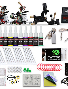 economico Tatuaggi e body art-DRAGONHAWK Macchina del tatuaggio Kit iniziale - 3 pcs Macchinette per Tatuaggio  con 10 x 5 ml inchiostri per tatuaggi, Livello professionale, Tensione regolabile, Facile da installare Lega LCD