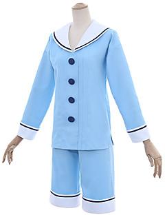 """billige Anime cosplay-Inspirert av Cardcaptor Sakura Kinomoto Sakura Anime  """"Cosplay-kostymer"""" Cosplay Klær Matros Topp / Bukser Til Dame Halloween-kostymer"""