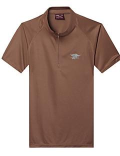 tanie Koszulki turystyczne-Męskie T-shirt turystyczny Na wolnym powietrzu Szybkie wysychanie, Anatomiczny kształt, Oddychalność T-shirt Przypadkowy / Ćwiczenia na zewnątrz / Turystyczne
