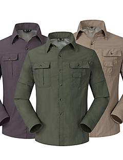 baratos Camisas para Trilhas-Homens Jaqueta de Trilha Ao ar livre Secagem Rápida, Vestível, Respirabilidade Blusas N / D Acampar e Caminhar / Caça / Exercicio Exterior / Resistente a UV