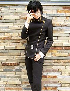 """billige Anime cosplay-Inspirert av Kode Gease Lelouch Lamperouge Anime  """"Cosplay-kostymer"""" Halloween-kostymer Cosplay Klær Stripet Langermet Topp / Bukser / Midjebelte Til Herre"""