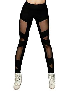 baratos Roupas de Dança Latina-Dança Latina Calça Legging Mulheres Treino / Espetáculo Elástico / Charmeuse Combinação Alto Calças