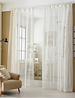 baratos Cortinas Transparentes-Sheer Curtains Shades Quarto Riscas Poliéster Jacquard