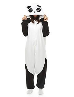 Недорогие Пижамы кигуруми-Взрослые Пижамы кигуруми Панда Цельные пижамы  Флис Черный   Белый Косплей Для 5cec895e19702