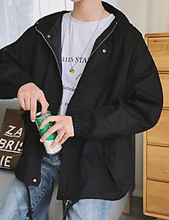 billige Herremote og klær-Jakke - Ensfarget Grunnleggende Herre
