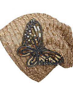 billige Trendy hatter-Dame Grunnleggende / Ferie Solhatt - Netting, Trykt mønster Sommerfugl