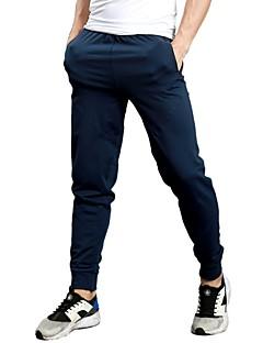 billige Løbetøj-Herre Lomme Løbebukser - Sort, Mørkeblå, Mørkegrå Sport Helfarve Bukser Fitness, Træningscenter, Træning Sportstøj Åndbart, Hurtigtørrende, Blød Mikroelastisk Tynd / Svedreducerende