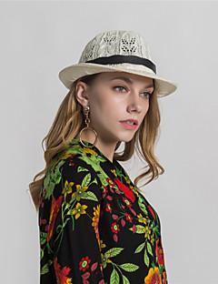 billige Trendy hatter-Dame Grunnleggende Bowlerhatter Trykt mønster