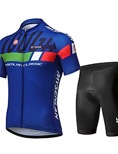fbfed4ab4 Mysenlan Men s Short Sleeve Cycling Jersey with Shorts Bike Clothing Suit