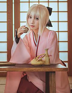baratos Cosplay Anime-Inspirado por Destino / Grande Ordem Okita Souji / Saber Anime Fantasias de Cosplay Ternos de Cosplay Anime Manga Longa Saias / Luvas / Arco Para Mulheres