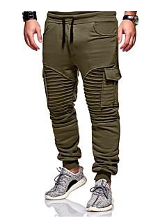 billige Herrebukser og -shorts-Herre Grunnleggende Chinos / Joggebukser Bukser Ensfarget