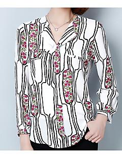 Χαμηλού Κόστους Μπλούζα-γυναικεία μπλούζα διακοπών - γεωμετρικό κολάρο πουκάμισο