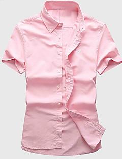 billige Herremote og klær-Menns arbeid bomullskjorte - solid farget skjorte krage