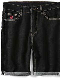 billige Herrebukser og -shorts-Herre Grunnleggende Jeans / Shorts Bukser Ensfarget / Dyr