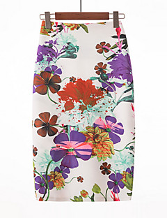 cheap Women's Skirts-Women's Basic Bodycon Skirts - Floral
