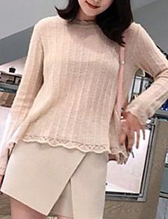 tanie Swetry damskie-Damskie Pulower Solidne kolory Długi rękaw