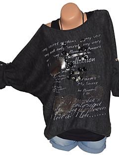 billige T-shirt-kvinder går ud af løs t-shirt - brev rundt hals