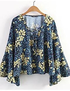 billige Bluse-Tynd Dame - Blomstret / Farveblok I-byen-tøj Bluse
