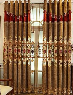 billige Mørkleggingsgardiner-gardiner gardiner Soverom Geometrisk Polyester Reaktivt Trykk