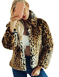 billige Pels-Trykt mønster Pelskåpe - Leopard Sofistikert Dame