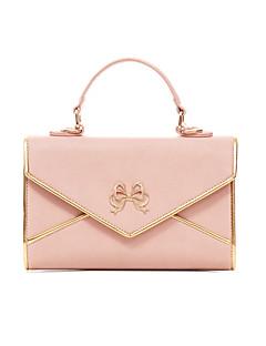 billiga Lolitamode-väska väska Justerbara band Elegant Dam Svart / Röd / Rosa lolita tillbehör Ensfärgat Rosett Väska PU-läder / Polyuretan Läder Halloweenkostymer
