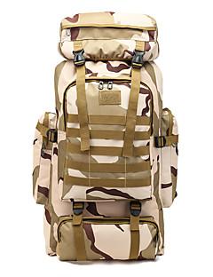 billiga Ryggsäckar och väskor-60 L Ryggsäckar / Ryggsäck - Regnsäker, Bärbar, Mateial som andas Utomhus Camping, Militär, Resor oxford Grå, Kamoflage, Khaki grön