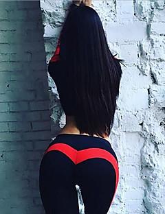 Χαμηλού Κόστους Άσκηση, γυμναστική και γιόγκα-Γυναικεία Patchwork Παντελόνι για γιόγκα - Μαύρο / Κόκκινο, Μαύρο /  Ροζ Αθλητισμός Συνδυασμός Χρωμάτων Κολάν Τρέξιμο, Fitness, Προπόνηση Ρούχα Γυμναστικής / Υψηλή Ελαστικότητα