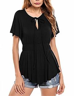 billige Tanktoppe & små toppe til kvinder-Dame - Ensfarvet Blondér T-shirt / Tank Tops