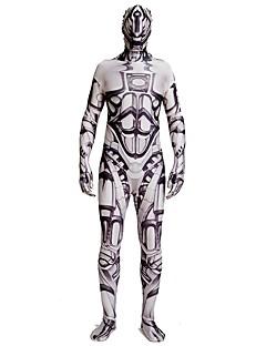billige Zentai-Zentai Drakter / mønstret Zentai Drakter / Cosplay Kostumer Superhelter / Politi Zentai Cosplay-kostymer Brun Printer Spandex Lykra / Elastisk Unisex Halloween / Karneval / Maskerade