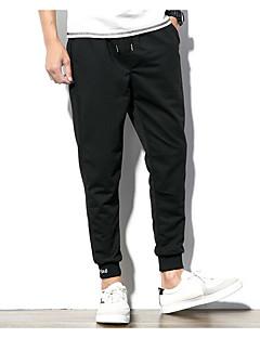 billige Herrebukser-mænds slanke chinosbukser - solidfarvet