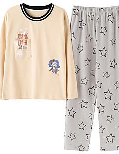 billige Moteundertøy-Dame Rund hals Dress Pyjamas - Lapper
