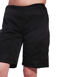 billige Sykkelbukser,Shorts,Strømpebukser, Tights-Jaggad Herre Fôrede sykkelshorts Sykkel Shorts / Hengende Shorts / MTB-shorts Pustende, 3D Pute Ensfarget, Rutet Polyester, Elastan Svart Sykkelklær