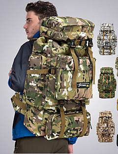 billiga Ryggsäckar och väskor-70 L Ryggsäckar / Ryggsäck - Regnsäker, 3D Tablett, Mateial som andas Utomhus Jakt, Fiske, Camping Nylon Grå, Kamoflage, Khaki grön
