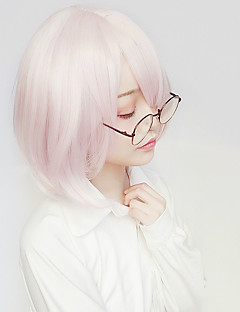 billige Anime cosplay-Cosplay Parykker Fate / zero Matthew Kyrielit Anime Cosplay-parykker 14 tommers Varmeresistent Fiber Dame Halloween-parykker