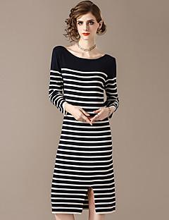 Χαμηλού Κόστους Sweater Dresses-Γυναικεία Κομψό στυλ street Λεπτό Παντελόνι - Ριγέ Patchwork Θαλασσί / Πάρτι / Εξόδου