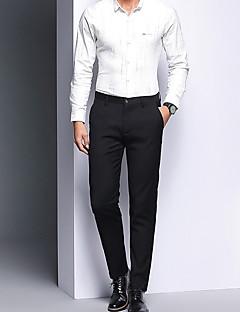 billige Herrebukser-Herre Basale Pæne bukser Bukser Ensfarvet