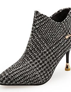 Χαμηλού Κόστους -Γυναικεία Fashion Boots PU Φθινόπωρο & Χειμώνας Μινιμαλισμός Μπότες Τακούνι Στιλέτο Μυτερή Μύτη Μποτίνια Γκρίζο / Χακί / Πάρτι & Βραδινή Έξοδος