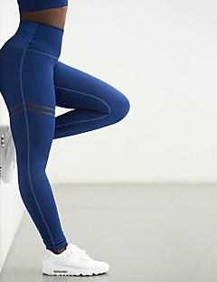 billiga Träning-, jogging- och yogakläder-Dam Rumplyftande leggings Yoga byxor - Svart, Röd, Blå sporter Rand Hög midja Byxa / Underdelar Motion & Fitness, Löpning, Gym Sportkläder Torkar snabbt, Push up-byxor, Magkontroll Microelastisk