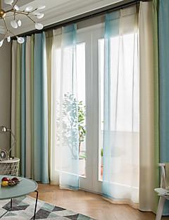 billige Mørkleggingsgardiner-gardiner gardiner Spisestue Moderne 100% Polyester Trykket / Blackout