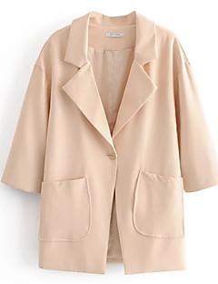 Χαμηλού Κόστους Blazers-γυναικεία εργασία μακρύ blazer-στερεά έγχρωμη βάση