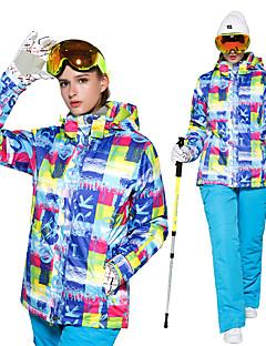 billiga Skid- och snowboardkläder-Wild Snow Dam Skidjacka och -byxor Vindtät, Varm, Ventilerande Skidåkning / Multisport / Vintersport Polyester Klädesset Skidkläder