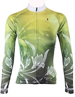 billige Sykkelklær-ILPALADINO Dame Langermet Sykkeljersey - Grønn Mote Sykkel Topper Vinter, Elastan