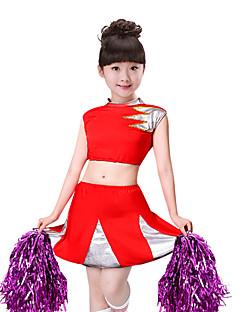 billige Kostymer til heialeder-Kostymer til heiajenter Drakter Jente Ytelse Spandex Kombinasjon Ermeløs Levert Skjørt / Topp