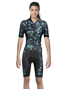 billige Sykkelklær-ILPALADINO Dame Kortermet Sykkeljersey - Svart Mote Sykkel kjeledress, Ultraviolet Motstandsdyktig Elastan