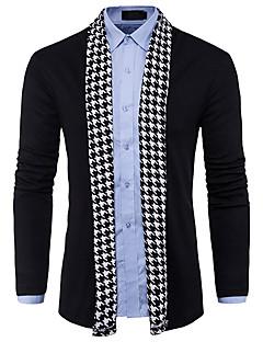 baratos Suéteres & Cardigans Masculinos-Homens Básico / Moda de Rua Carregam - Estampa Colorida / Houndstooth, Patchwork