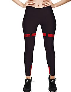 baratos Leggings para Mulheres-Mulheres Básico Legging - Sólido Cintura Média