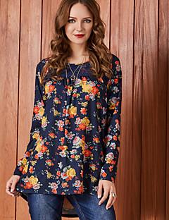 billige Dametopper-Skjorte Dame - Blomstret, Trykt mønster Aktiv / Grunnleggende